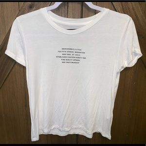 Abercrombie and Fitch Womans xs white t shirt